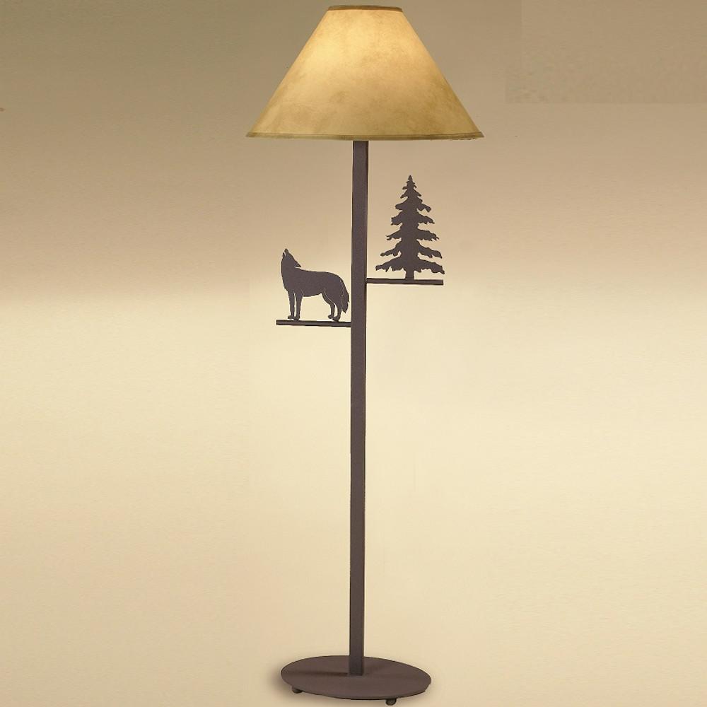 Wolf & Pine Tree Floor Lamp | Colorado Dallas | CDFL1813SH2158