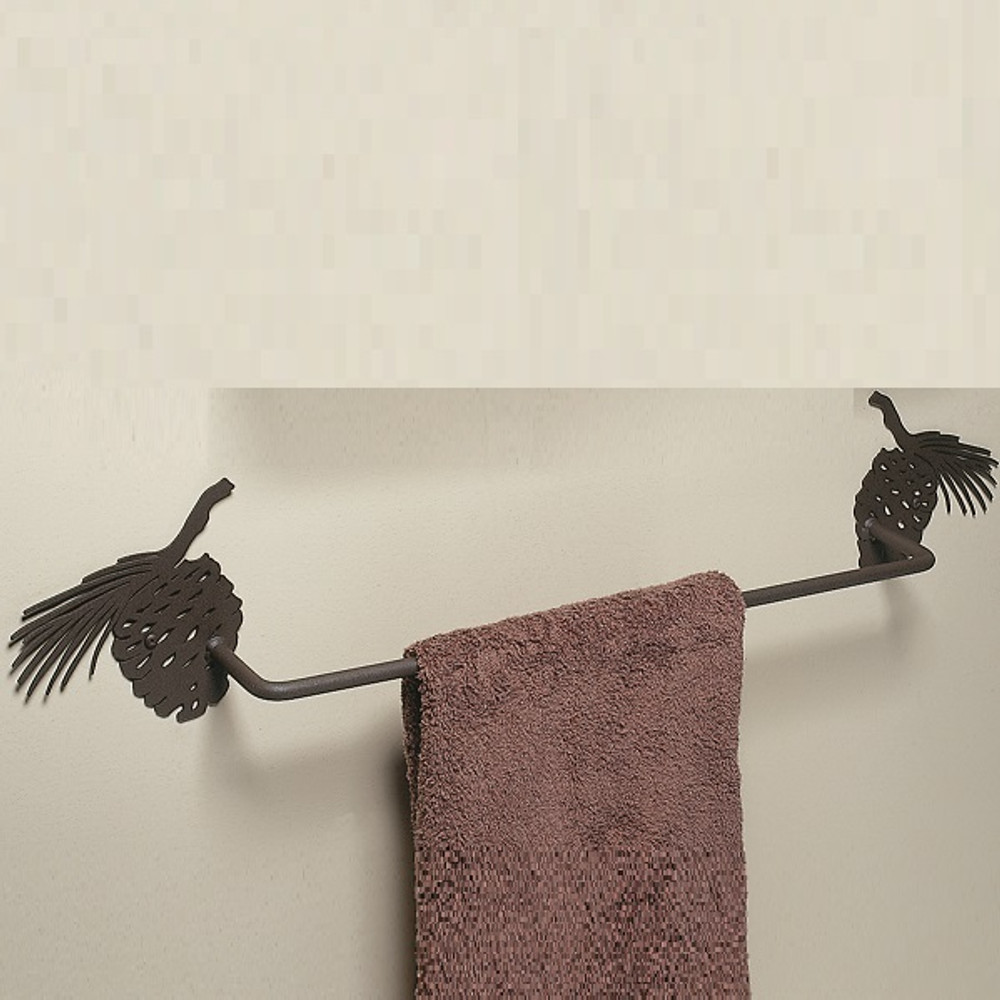 Pinecone Silhouette Towel Bar | Colorado Dallas | CDTB02-24