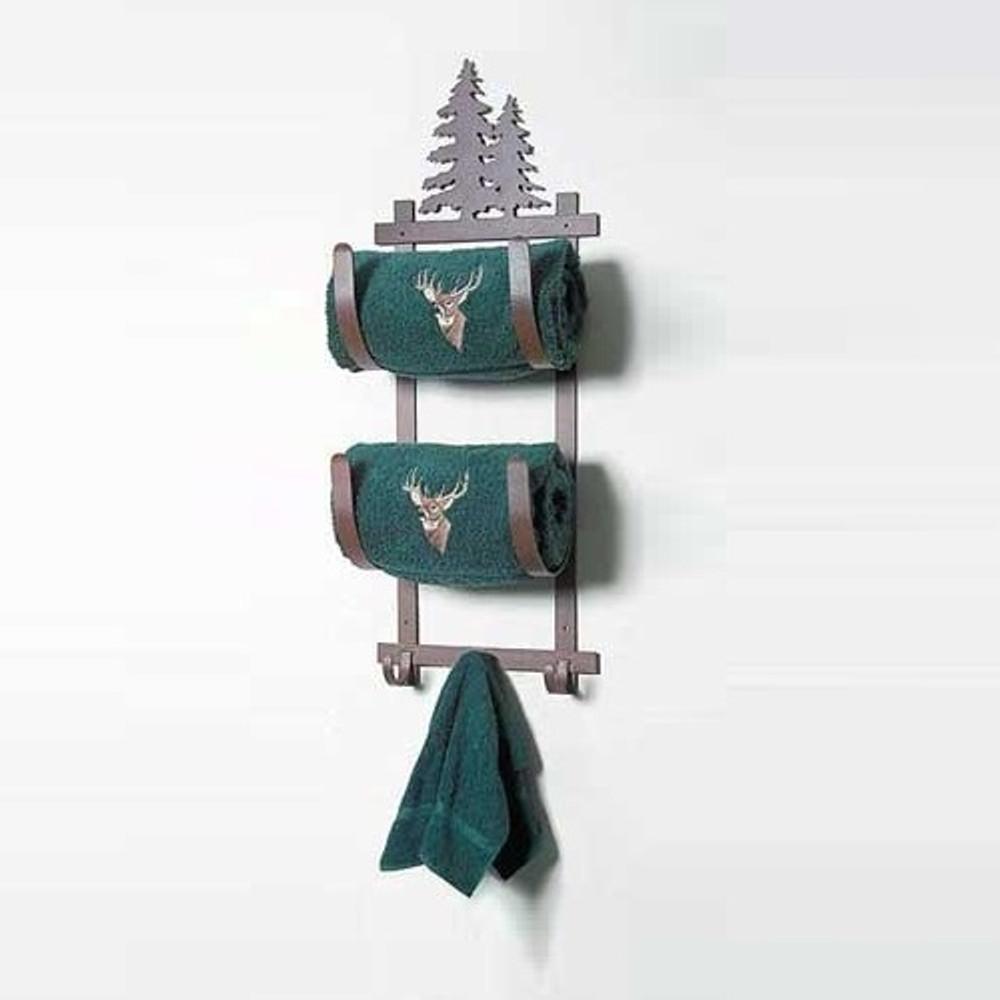 Pine Tree Double Towel Holder   Colorado Dallas   CDTBR-93