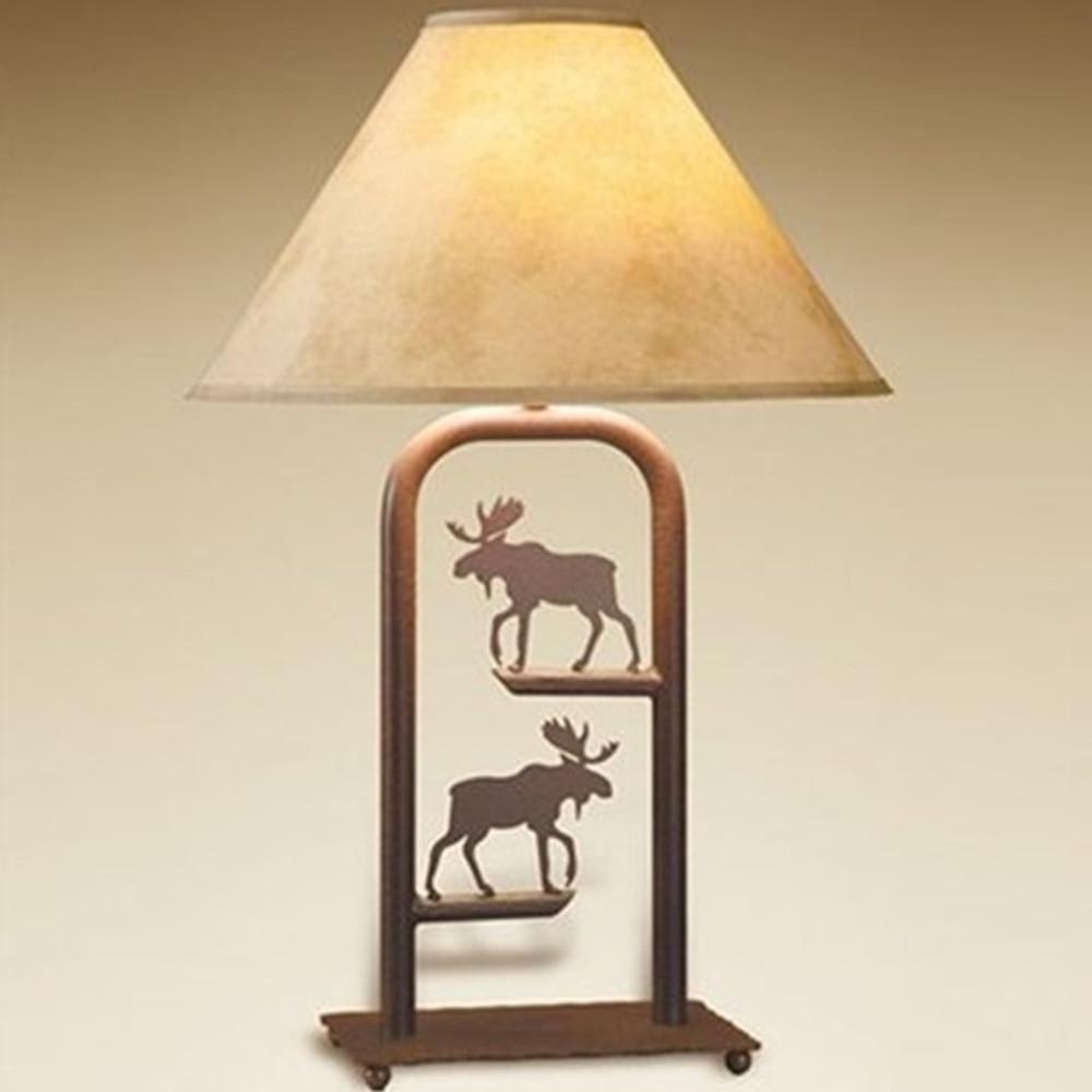 Moose Fortress Table Lamp | Colorado Dallas | CDTLF10SH2158
