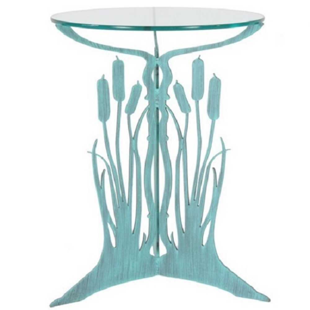 Cattail Glass Top Table | Cricket Forge | T010