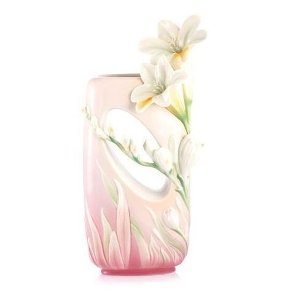Divine Fragrance Freesia Vase | FZ02978 | Franz Porcelain Collection