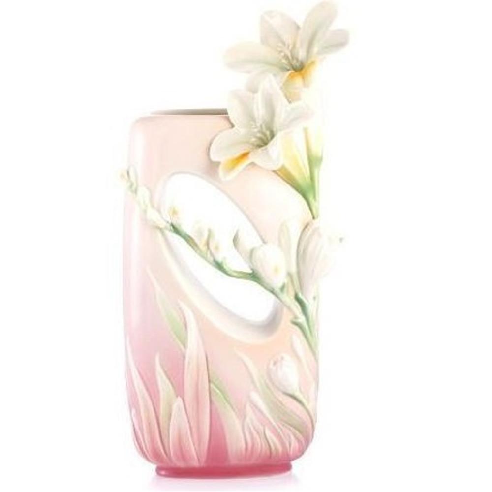 Divine Fragrance Freesia Vase | FZ02978 | Franz Porcelain Collection -2