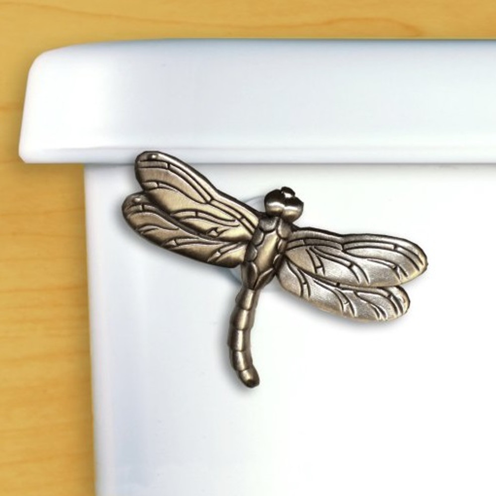 Dragonfly Toilet Flush Handle | Functional Fine Art | ffa00114satinpewter