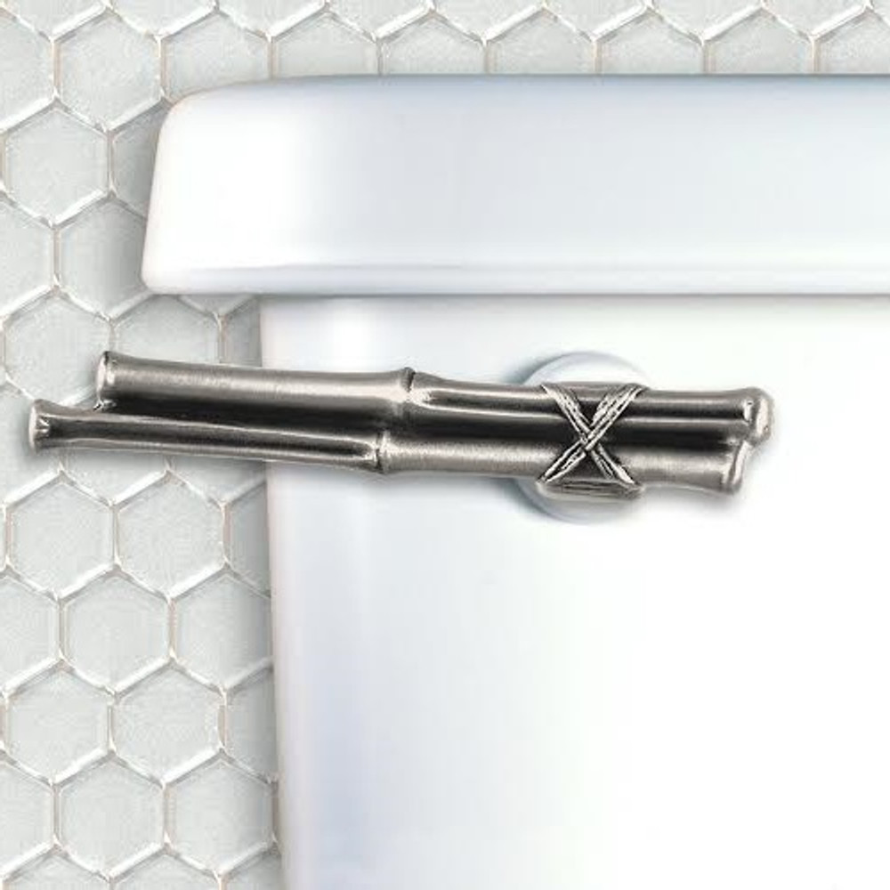 Bamboo Toilet Flush Handle | Functional Fine Art | ffa00145satin