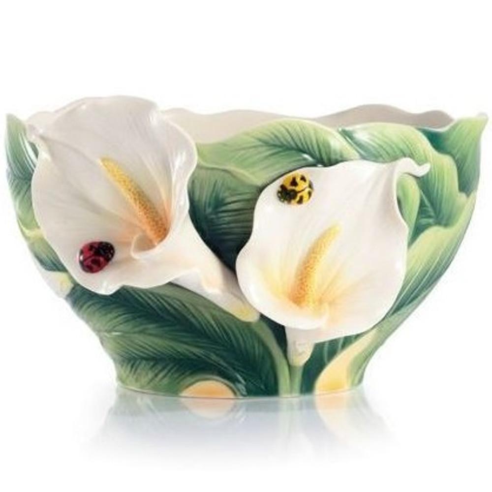 Happy Reunion Calla Lily Porcelain Salad Bowl | FZ03007 | Franz Porcelain Collection -2