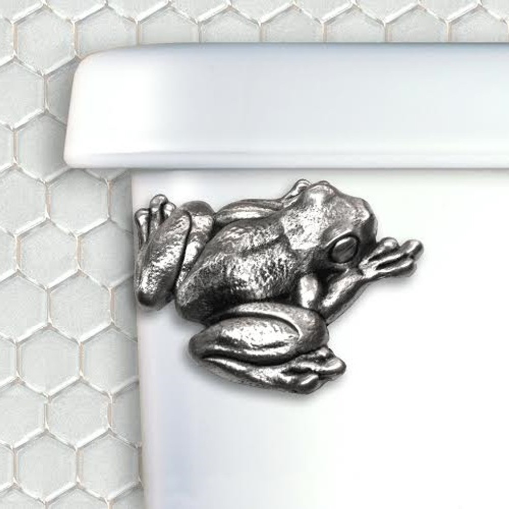 Frog Pewter Toilet Flush Handle | Functional Fine Art | ffafrogpewter