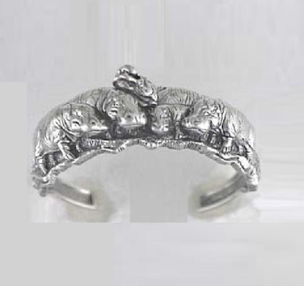 Hippo Sterling Silver Bracelet   Kabana Jewelry   Kbr171 -2