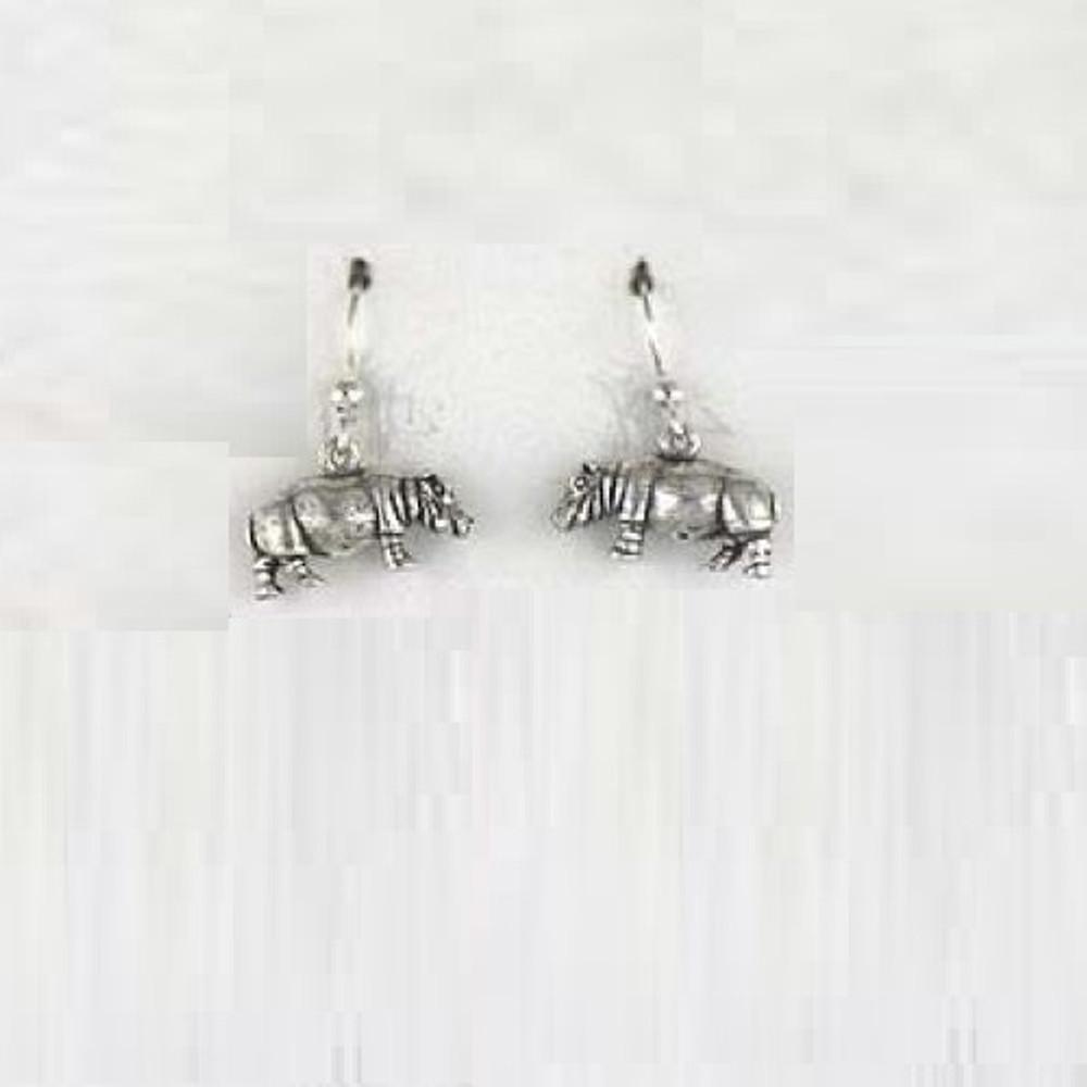 Hippo Sterling Silver Wire Earrings | Kabana Jewelry | KE048