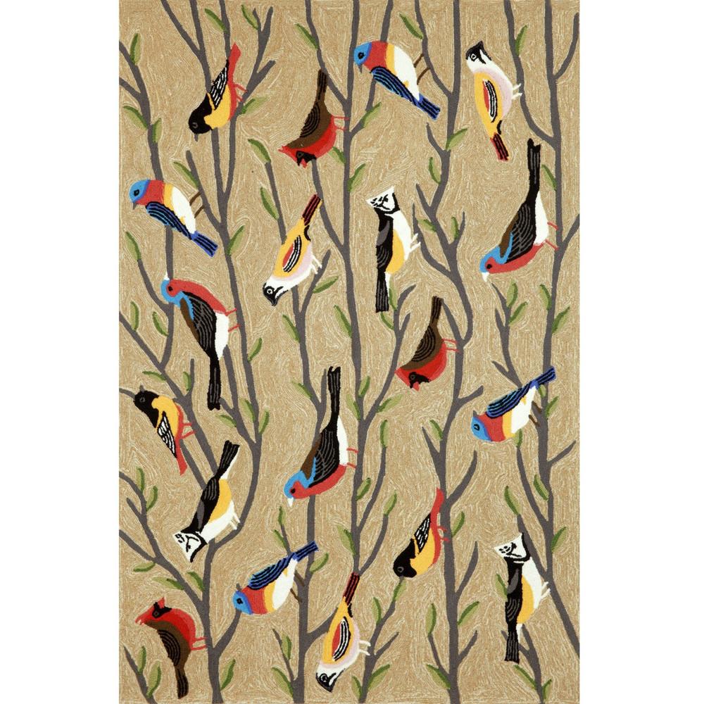 """Frontporch Birds 42"""" x 66"""" Indoor Outdoor Area Rug   Trans Ocean   TOGFTP46144044"""