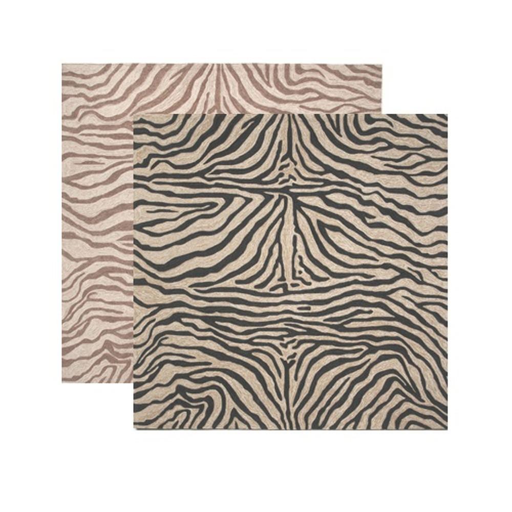 Zebra Print Square Area Rug   Trans Ocean   TOGRVLS8203348