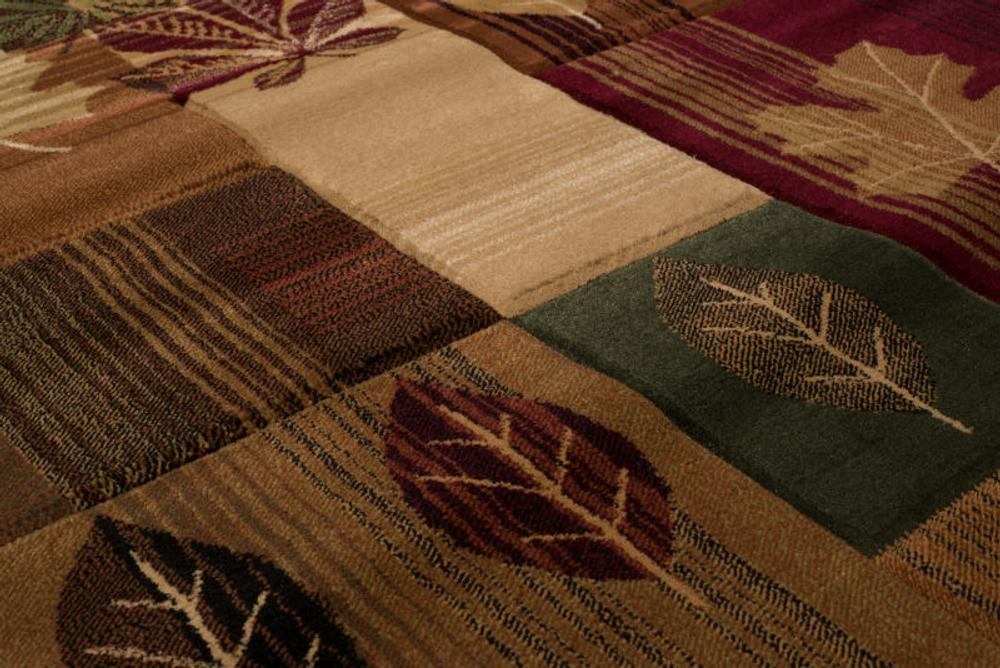 Autumn Bliss Leaves Area Rug | United Weavers | 511-25159-5x7