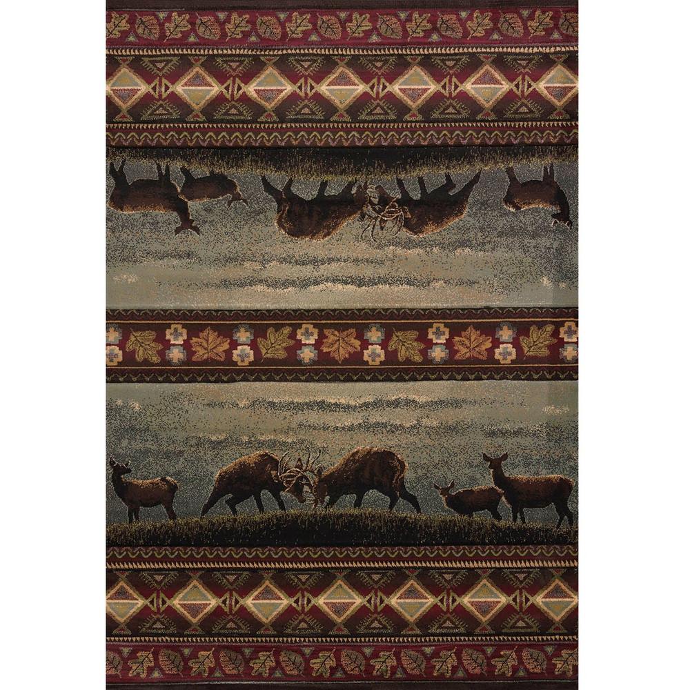 Deer Area Rug Native Landscape   United Weavers   511-27766-5x7