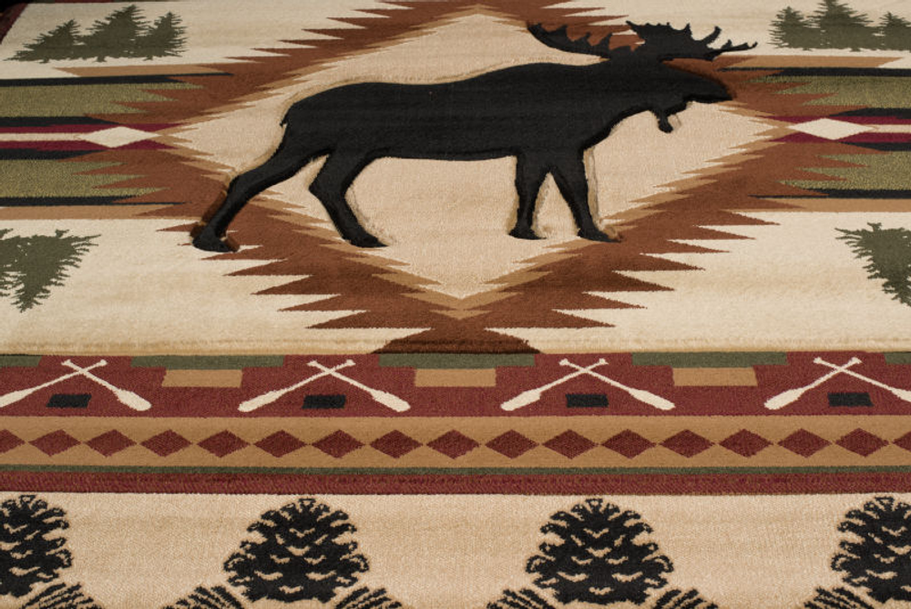 Moose Area Rug Wilderness | United Weavers | 512-25559-5x7