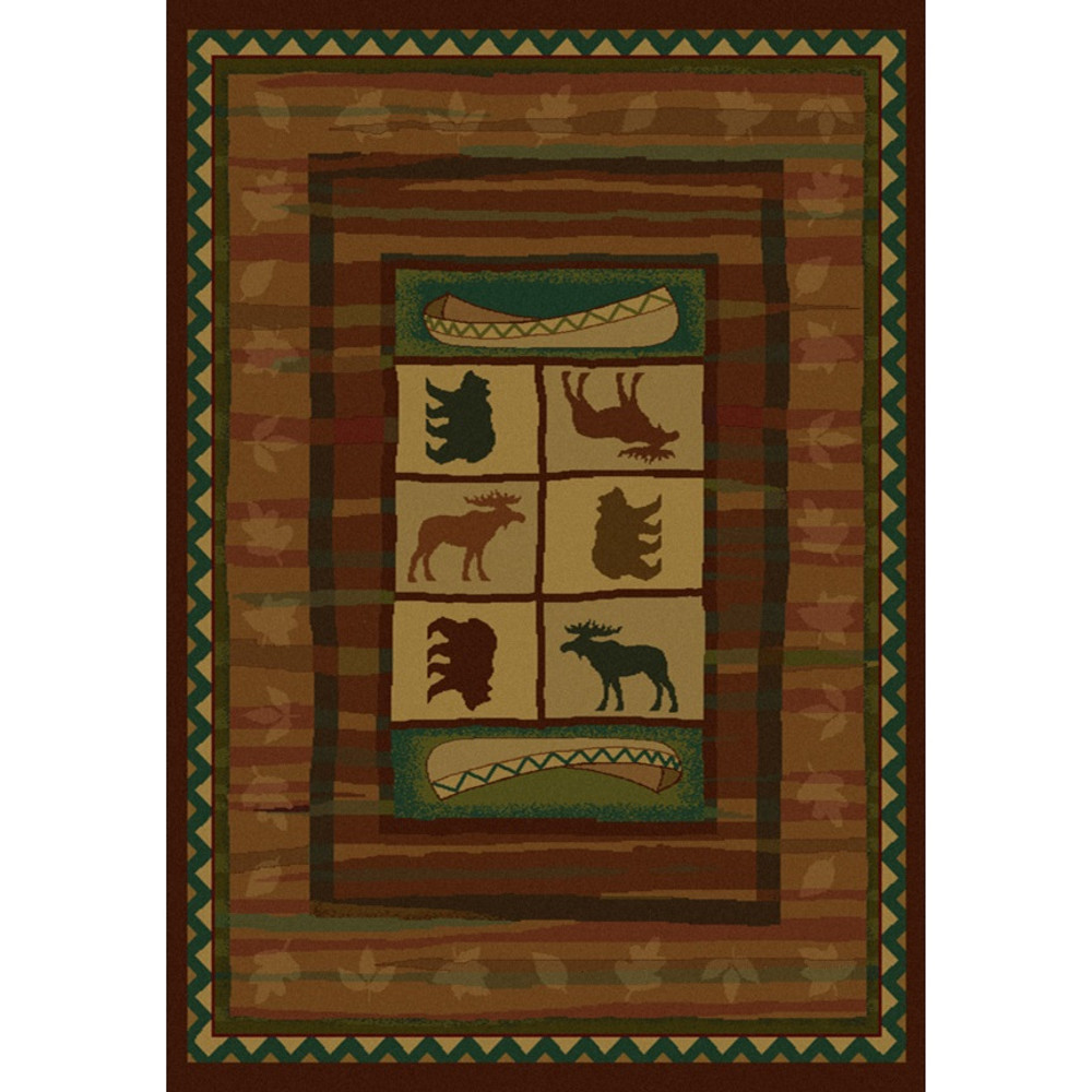 Bear and Moose Hearthstone Area Rug | United Weavers | UW530-28277