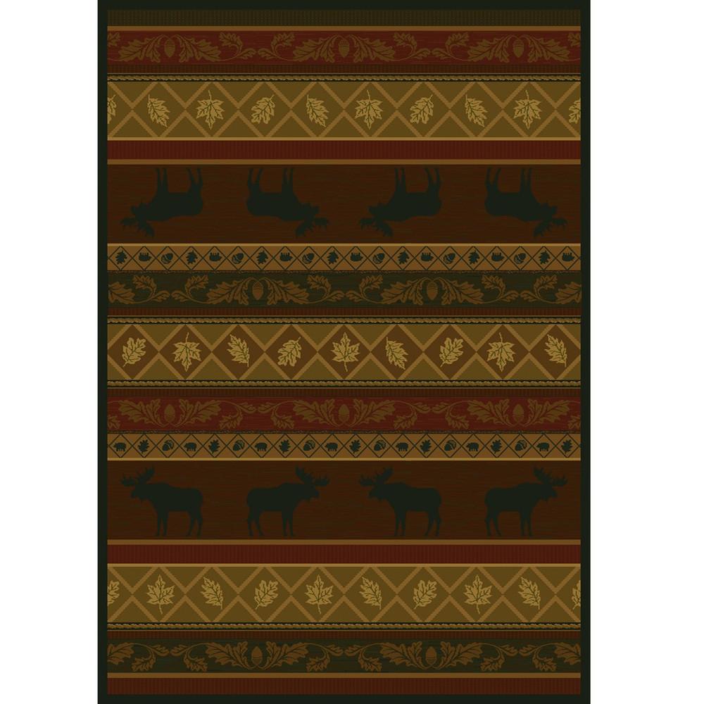 Moose and Leaves Area Rug | United Weavers | UW533-10743