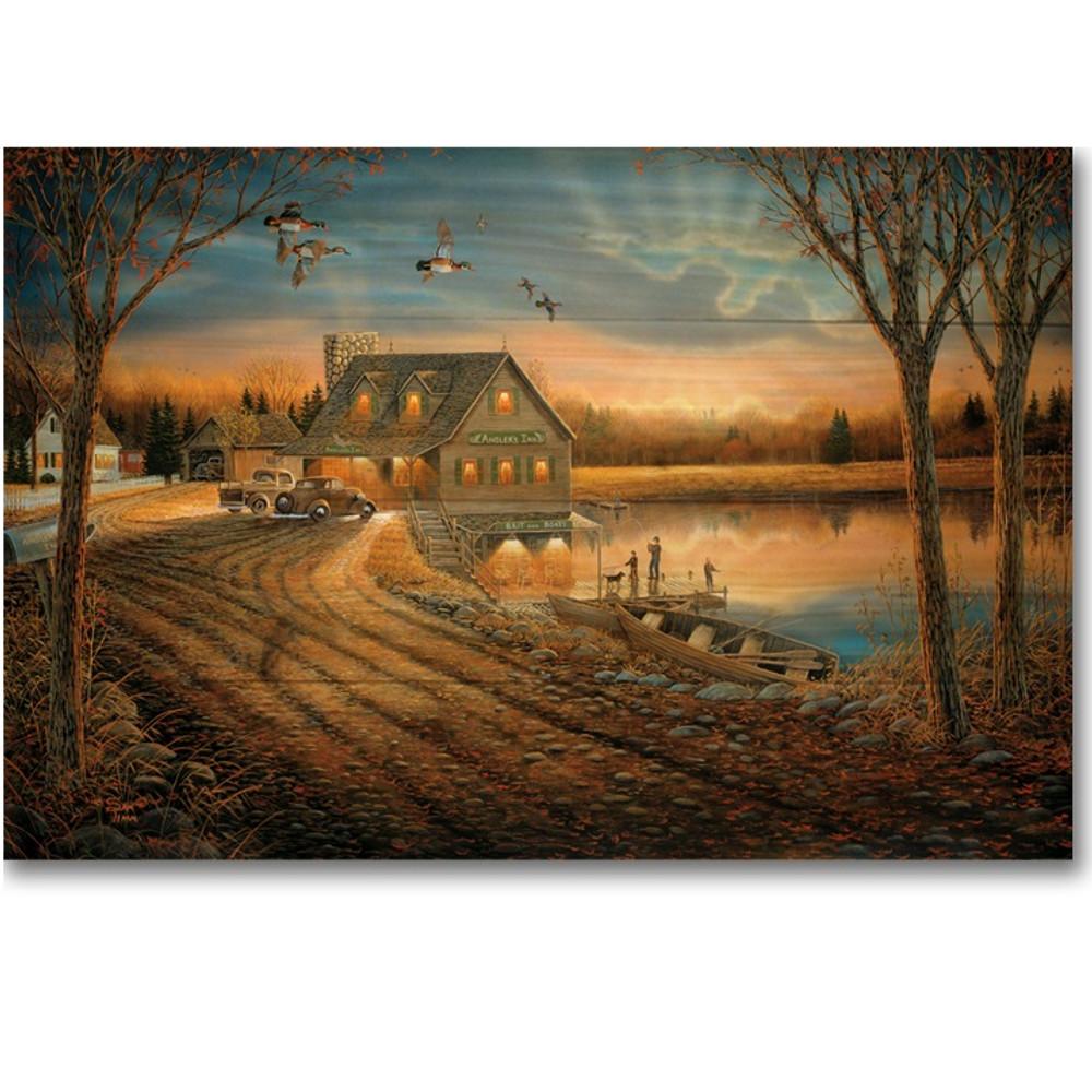 "Duck Wood Wall Art ""Angler's Inn "" | Wood Graphixs | WGIAI2416"