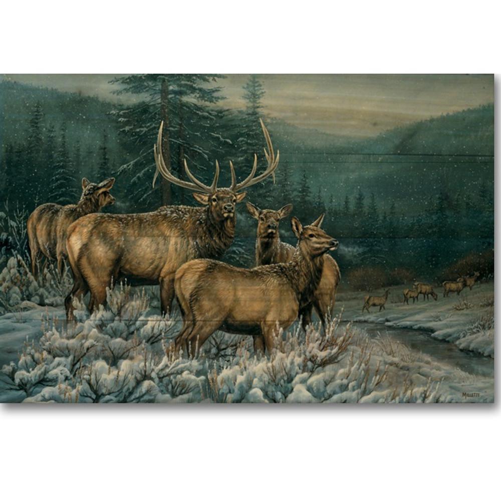 "Elk Wood Wall Art ""Broken Silence"" | Wood Graphixs | WGIBSE2416"