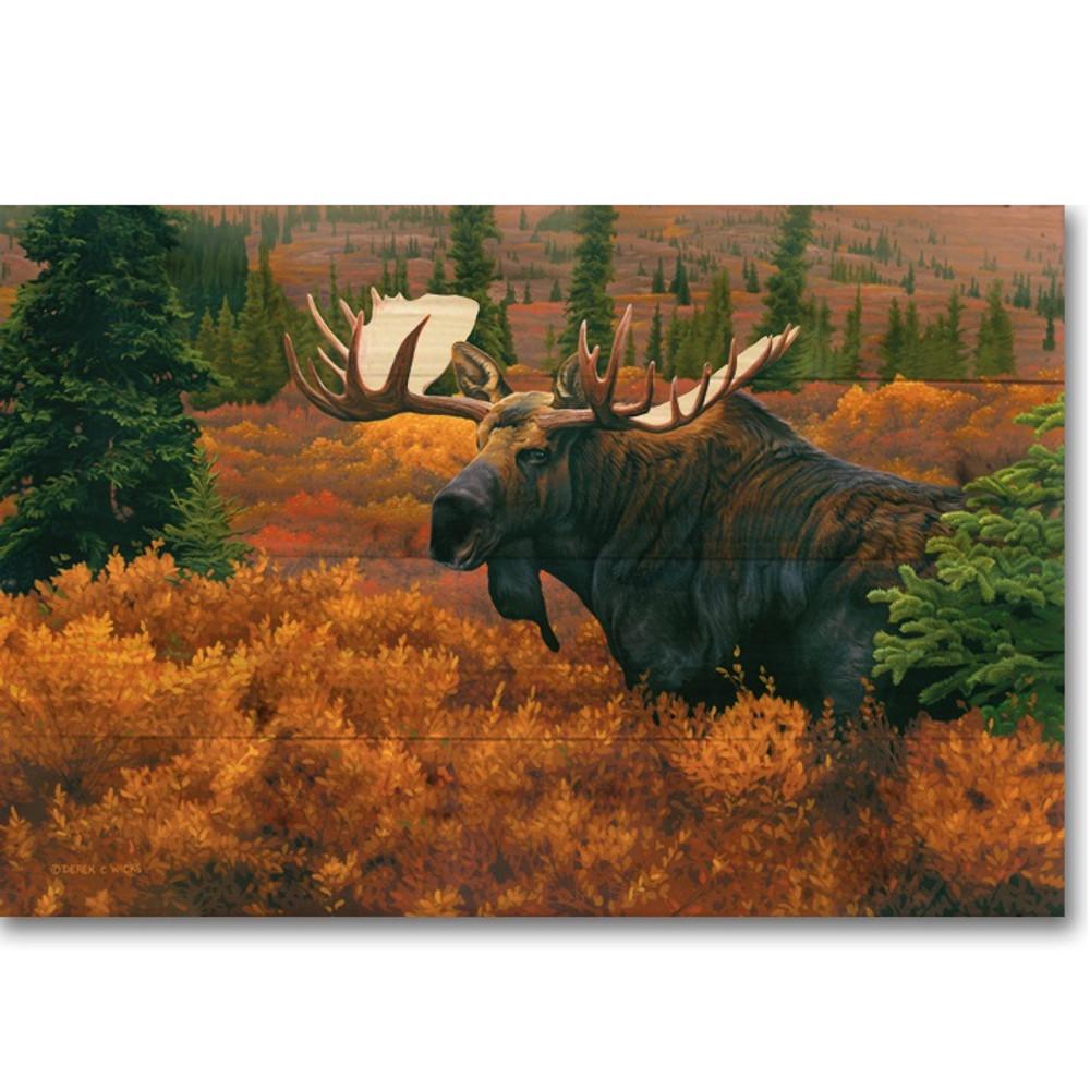 "Moose Wood Wall Art ""Denali Autumn""   Wood Graphixs   WGIDAM2416"