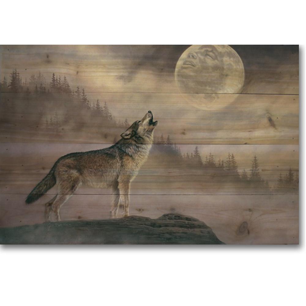 "Wolf Wood Wall Art ""Kindred Spirit"" | Wood Graphixs | WGIKINS2416"