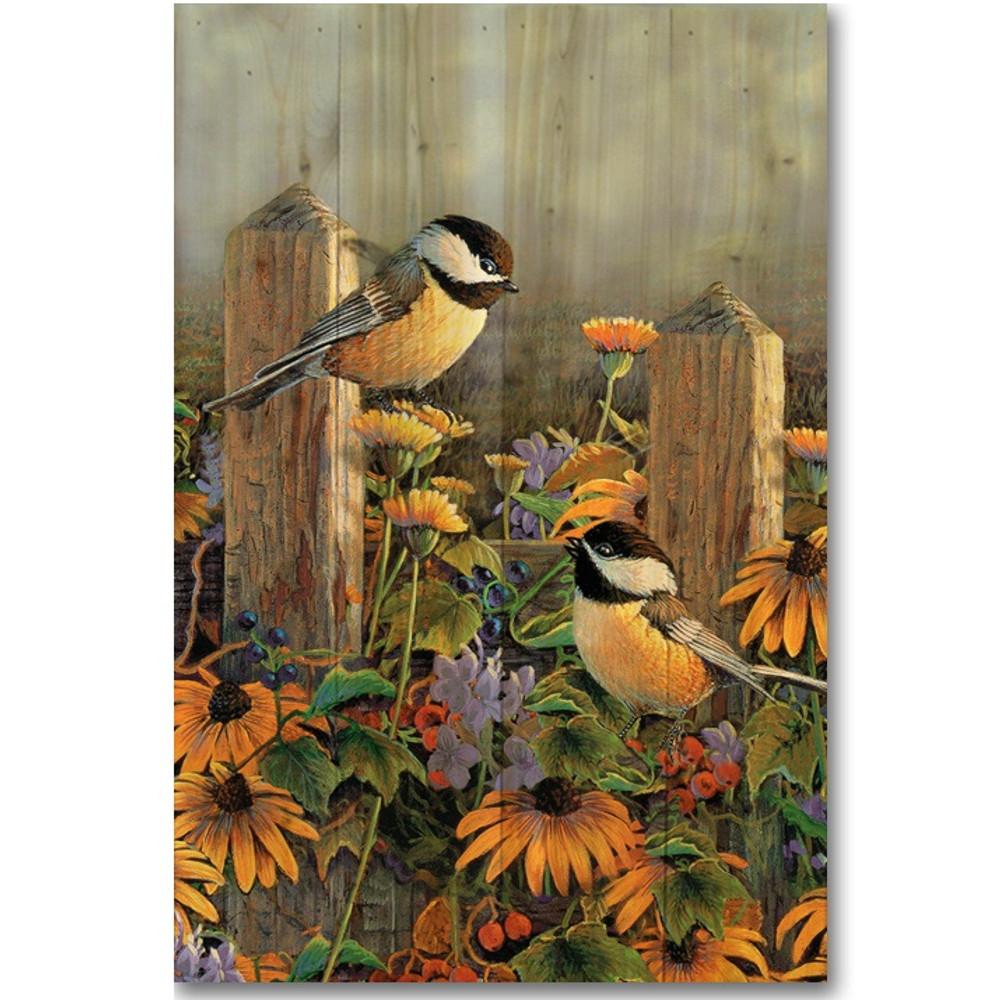 Linda's Chickadees Wood Wall Art | Wood Graphixs | WGILCK1624
