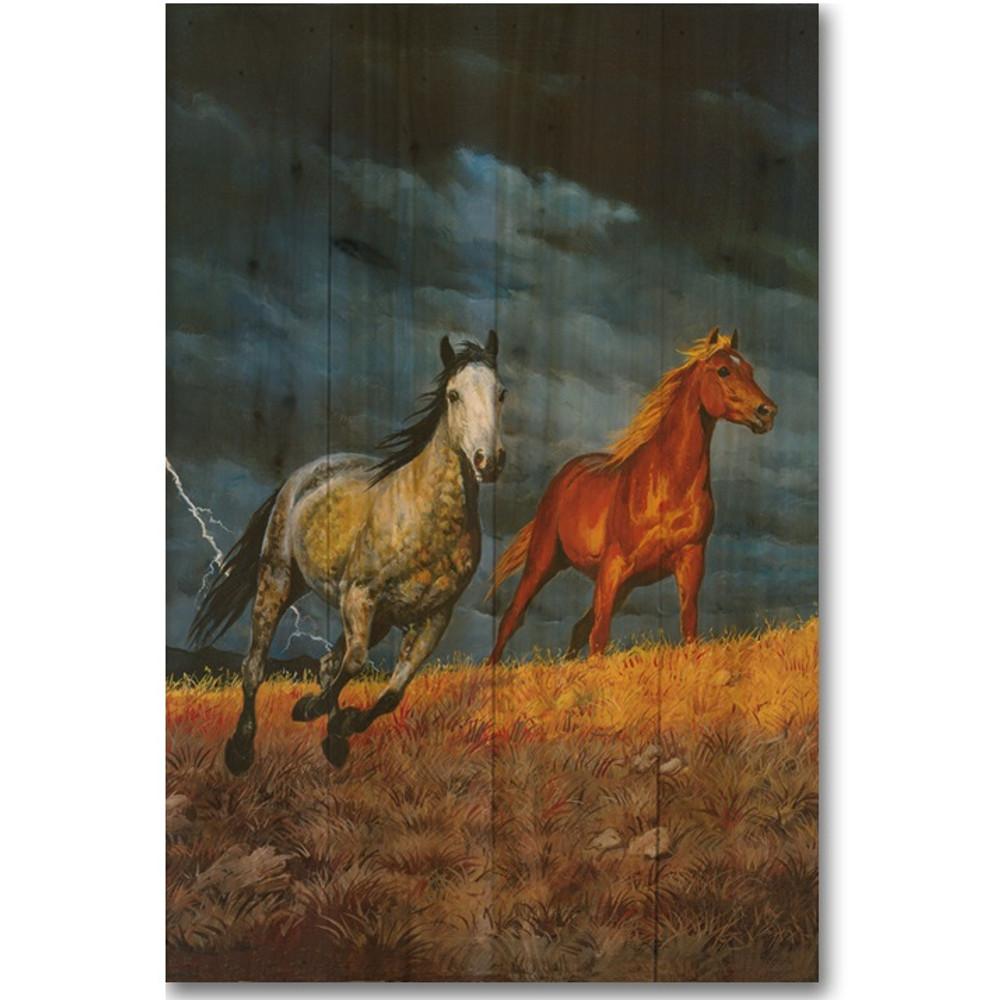 Lightning Horse Wood Wall Art | Wood Graphixs | WGILGT1624