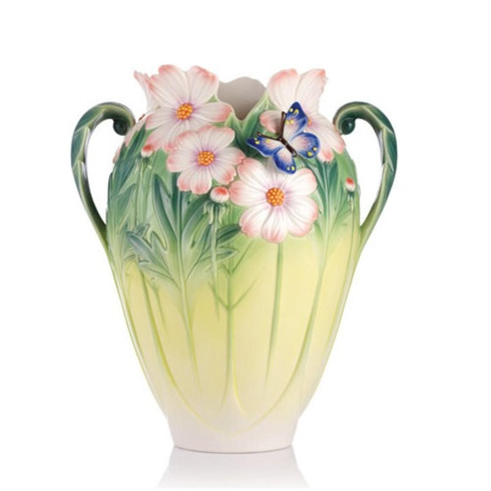 Butterfly Cosmos of Color Vase | FZ03127 | Franz Porcelain Collection -2