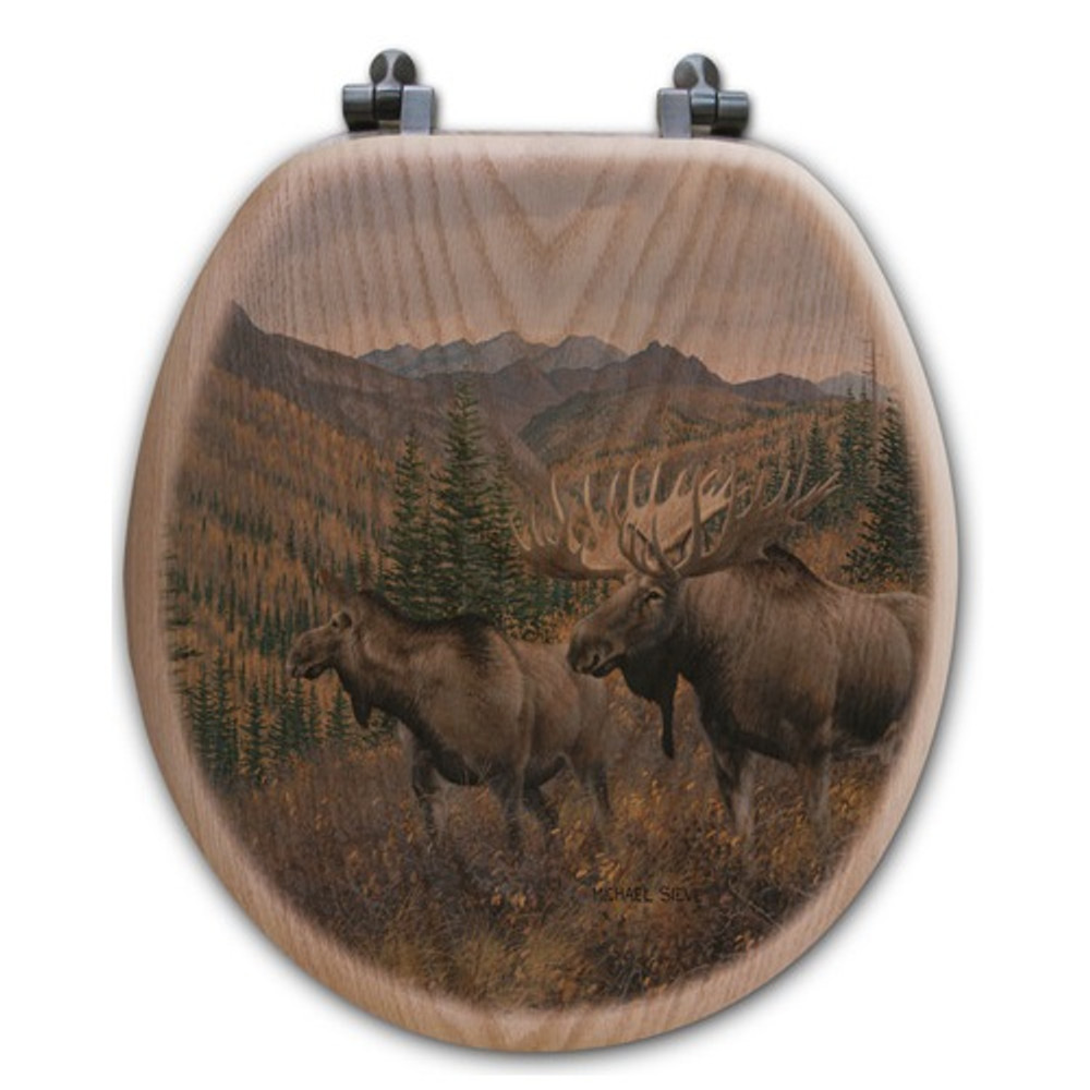 "Moose Toilet Seat ""Ridge"" 