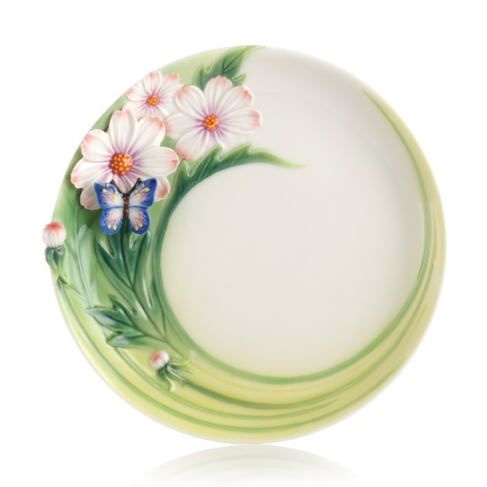 Butterfly Cosmos of Color Cake Plate | FZ03131 | Franz Porcelain Collection