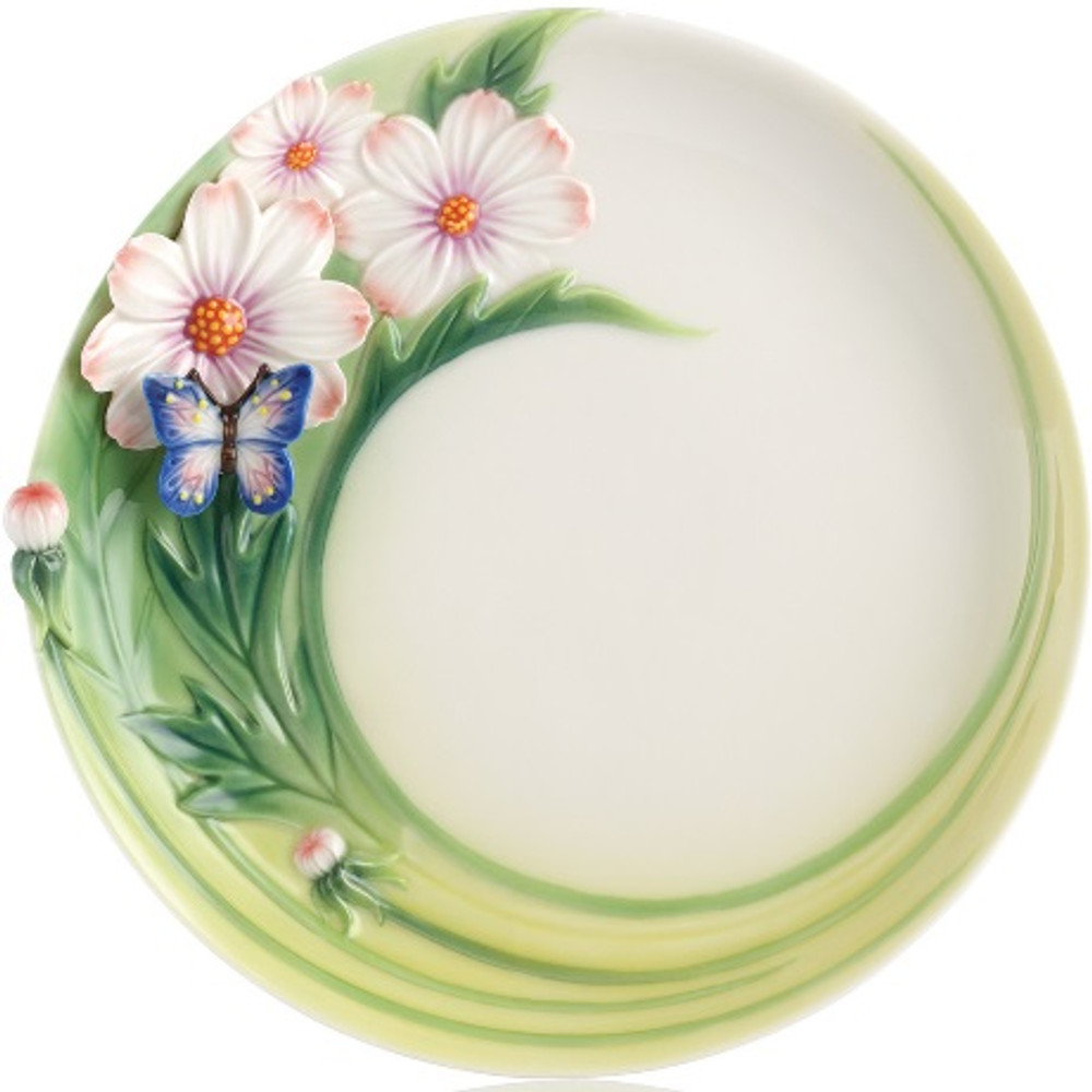 Butterfly Cosmos of Color Cake Plate | FZ03131 | Franz Porcelain Collection -2
