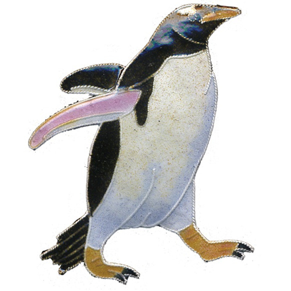 Gentoo Penguin Cloisonne Pin | Bamboo Jewelry | BJ0142E