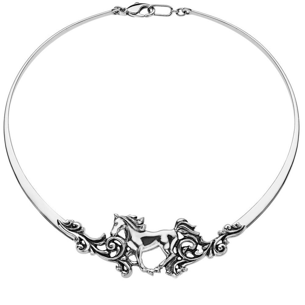 Horse Sterling Silver Filagree Necklace | Kabana Jewelry | KNK312