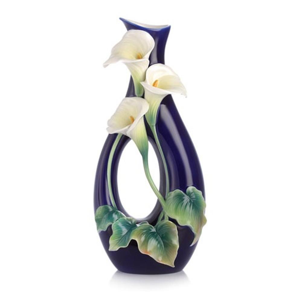 Calla Lily Vase Forever Love   FZ03170   Franz Porcelain Collection