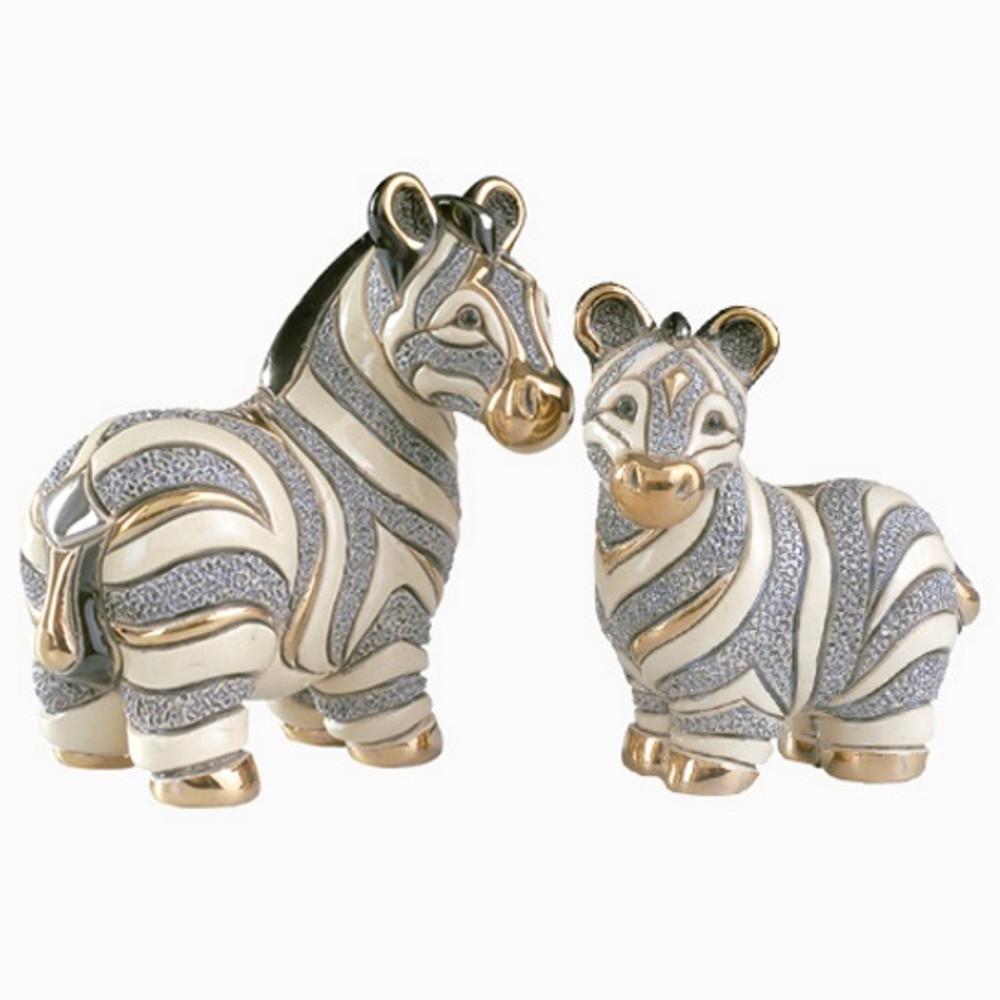 Zebra and Baby Ceramic Figurine Set   De Rosa   Rinconada   F124-F324