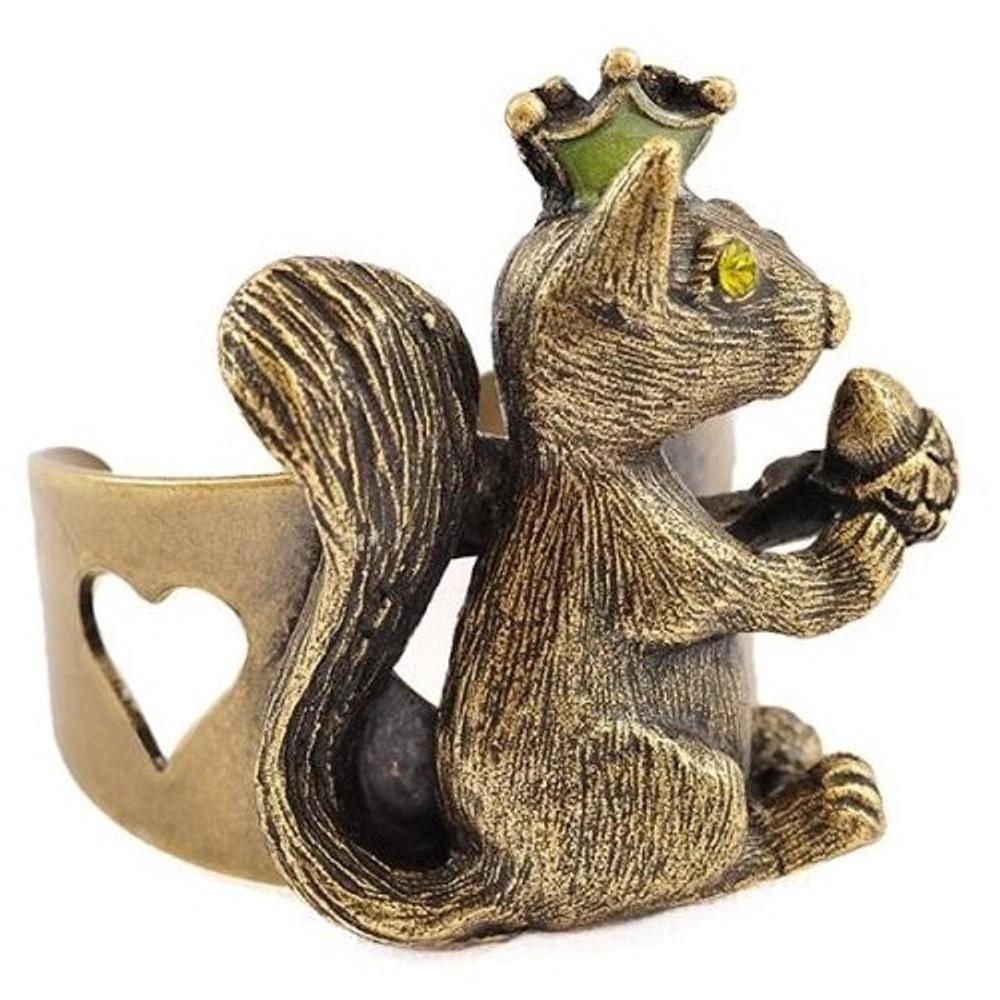 Squirrel With Nut Ring   La Contessa Jewelry   LCRG9251