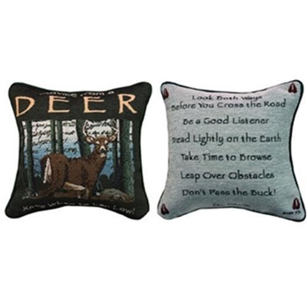 Deer Advice Tapestry Pillow | Manual Woodworkers | MWWTPADER