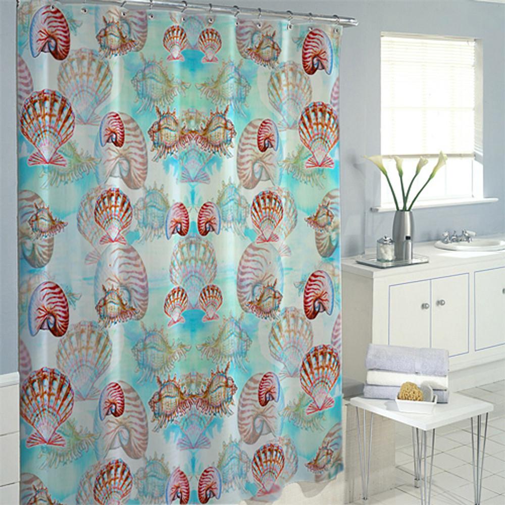 Multi Shells Shower Curtain | Betsy Drake | BDSH094