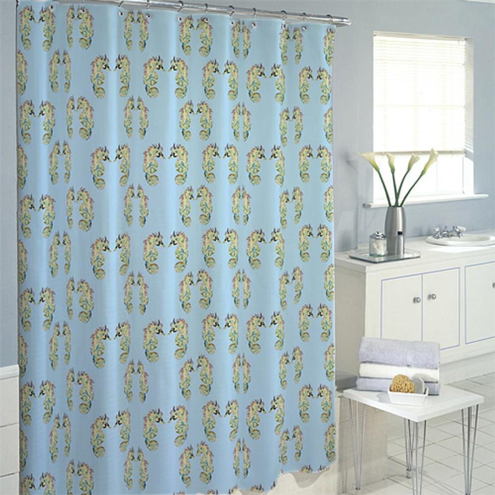 Seahorse Pattern Shower Curtain | Betsy Drake | BDSH388