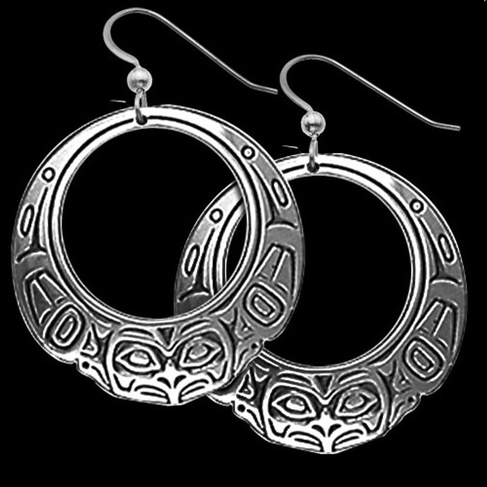 Raven Hoop Earrings | Metal Arts Group Jewelry | MAG21079-S