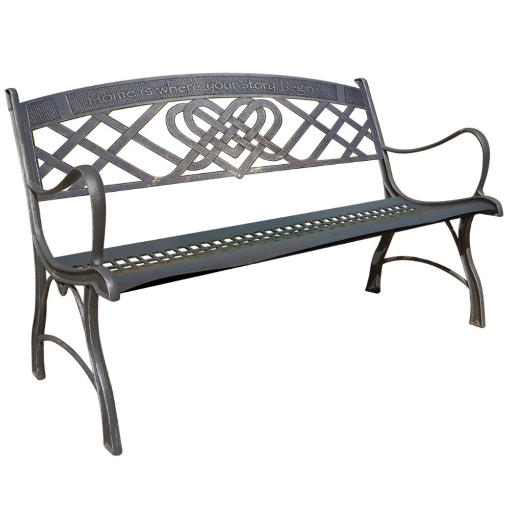 Celtic Cast Iron Garden Bench | Painted Sky | PSPB-ILN-100BR