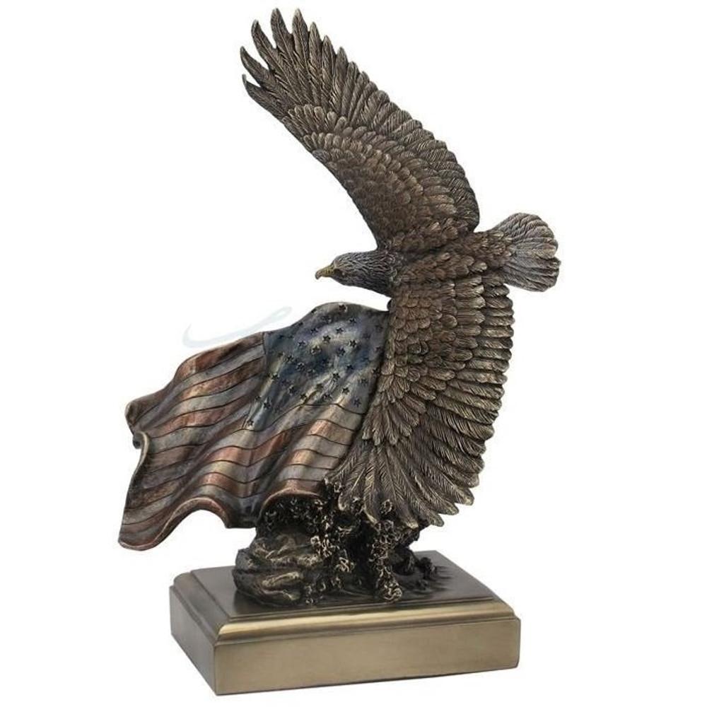 Bald Eagle Sculpture American Pride in Bronze Finish | WU76432A5