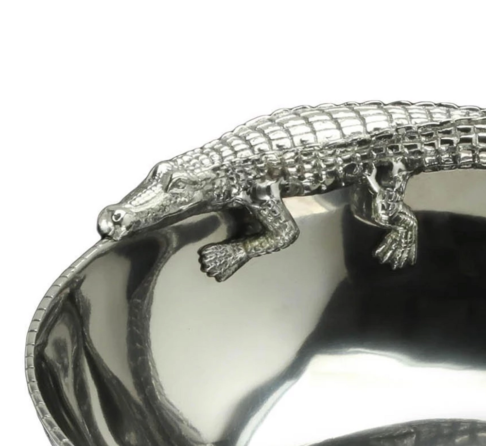 Alligator 12 inch Figural Bowl   Arthur Court Designs   103692