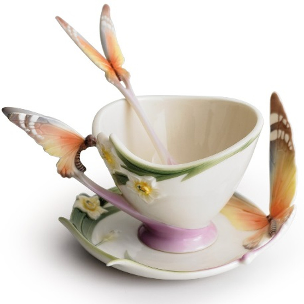 Butterfly Cup Saucer Spoon | xp1693 | Franz Porcelain Collection -2