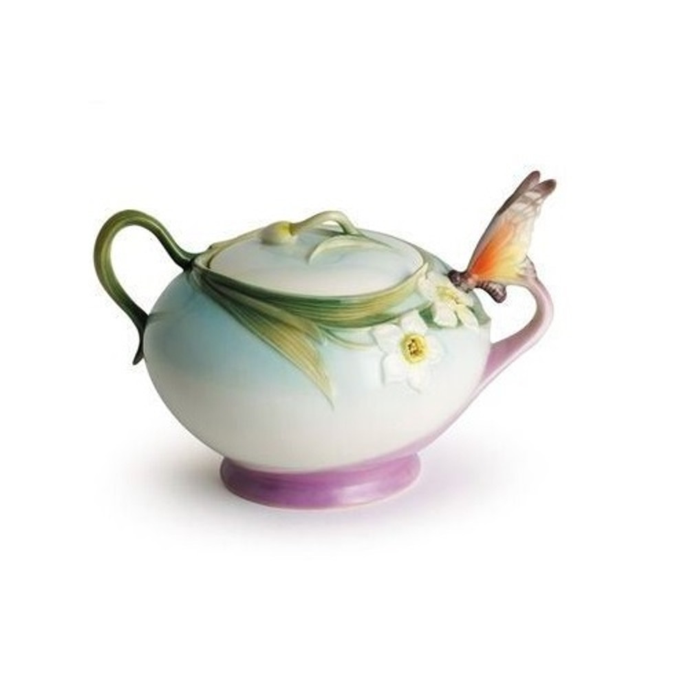 Butterfly Sugar Jar | xp1877 | Franz Porcelain Collection