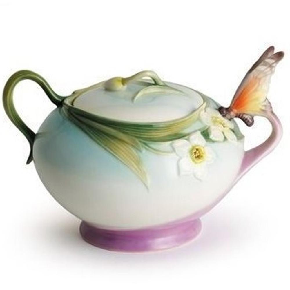 Butterfly Sugar Jar | xp1877 | Franz Porcelain Collection -2