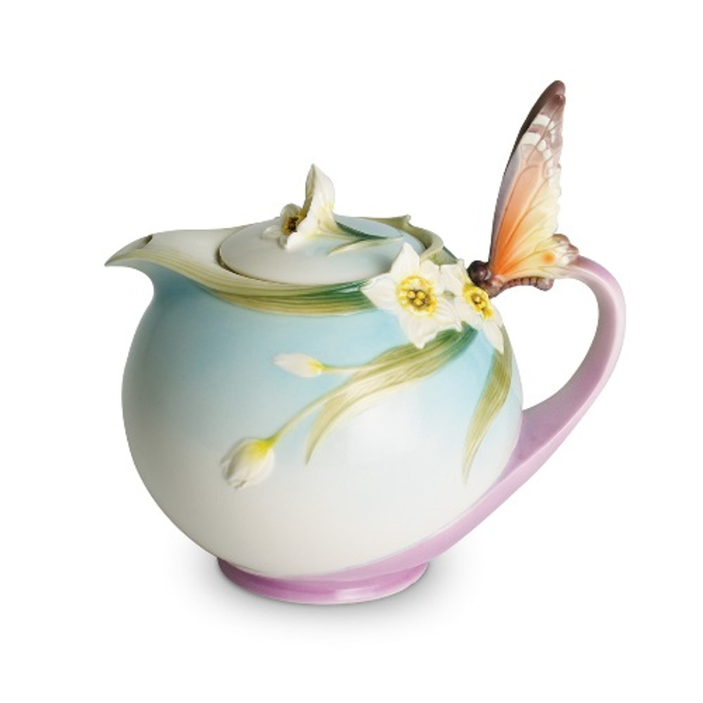 Butterfly Teapot | xp1878 | Franz Porcelain Collection
