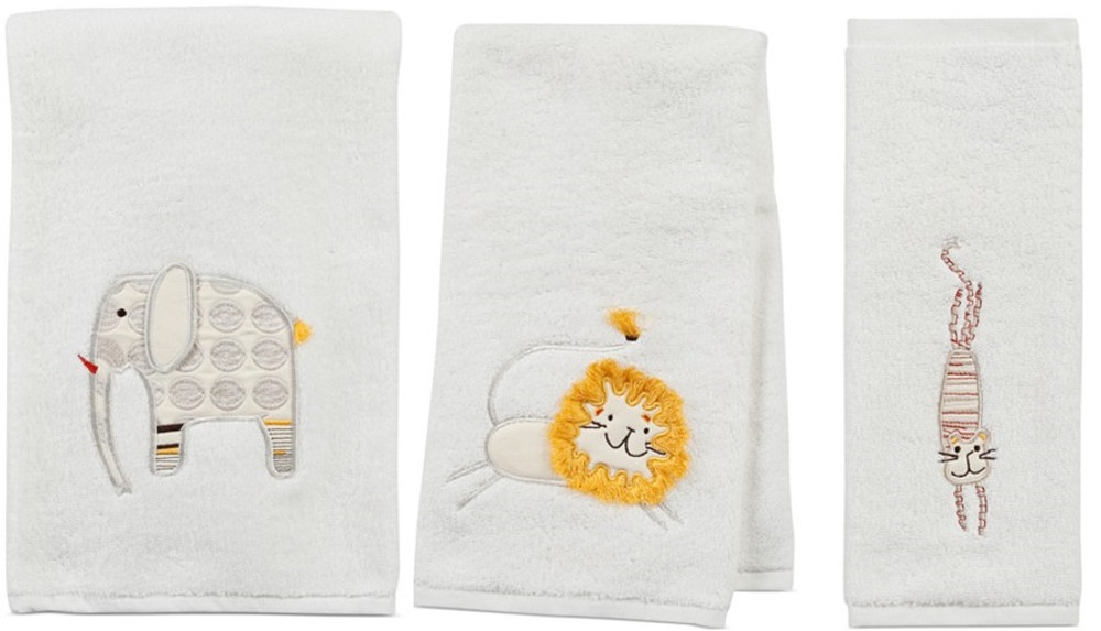 Animal Crackers Bath Towel Set | Creative Bath | CBTE1022BHW