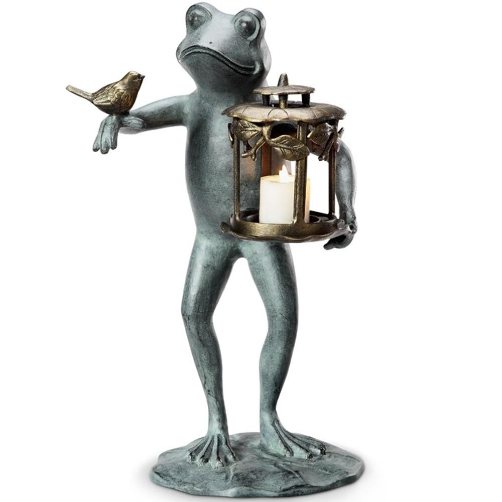 Frog and Bird Garden Lantern | 34257 | SPI Home