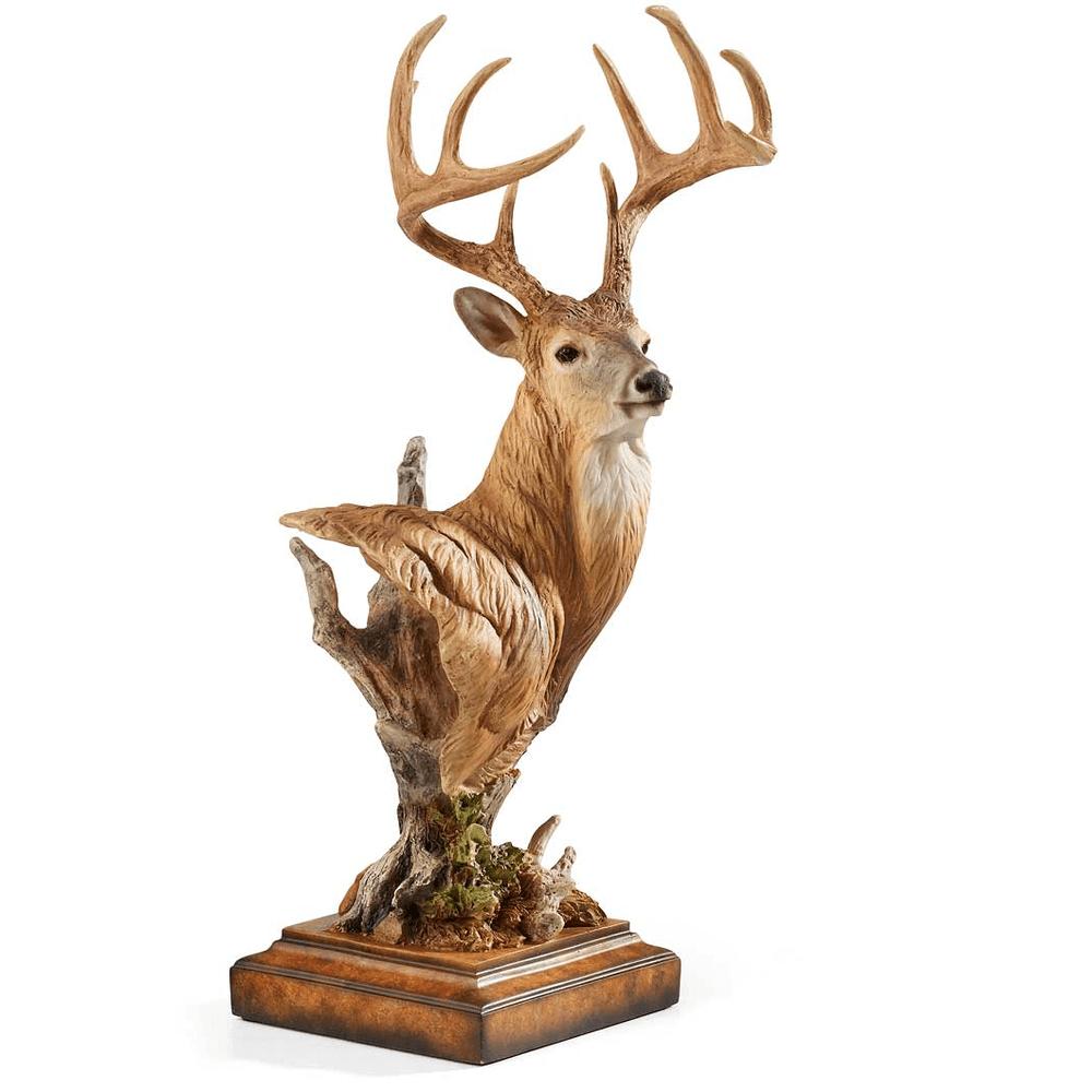 "Whitetail Deer Sculpture ""Watchful""   Mill Creek Studios   6567526465 -2"