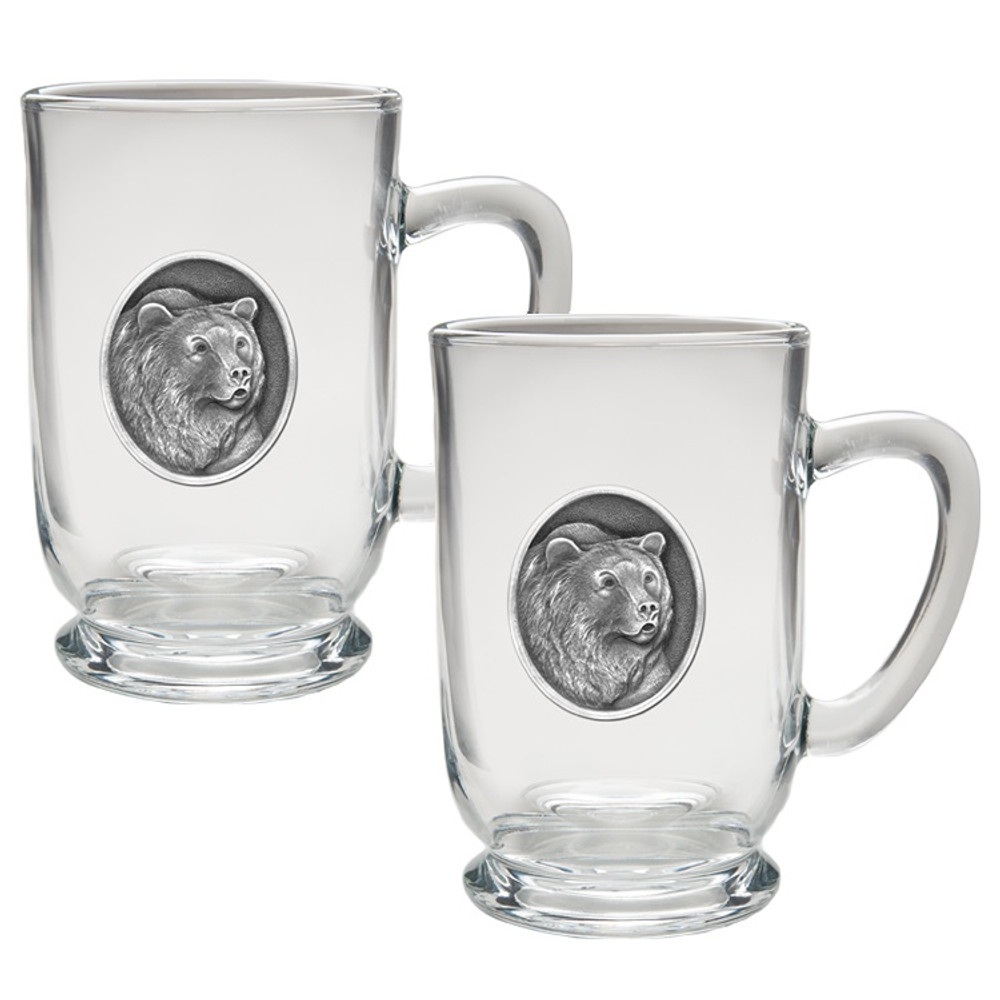 Grizzly Bear Coffee Mug Set of 2 | Heritage Pewter | HPICM201CL